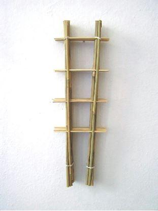 Obrázek Žebřík bambusový 45 cm - BALENÍ 10ks
