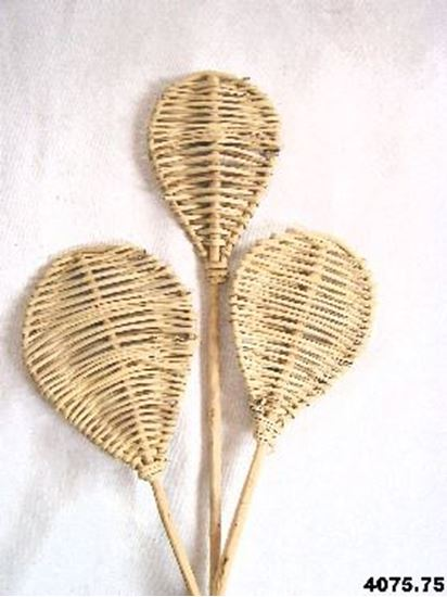 Obrázek z Lata leaf - přírodní, na stonku (10ks)