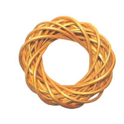 Obrázek Zlatý proutěný věnec ø25cm