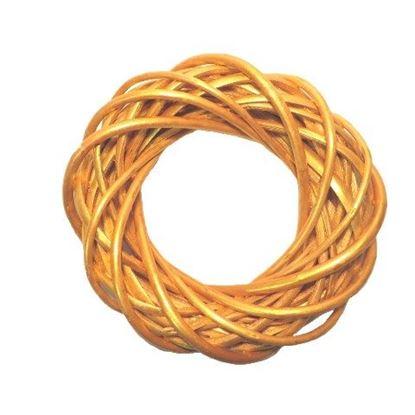 Obrázek Zlatý proutěný věnec ø40cm