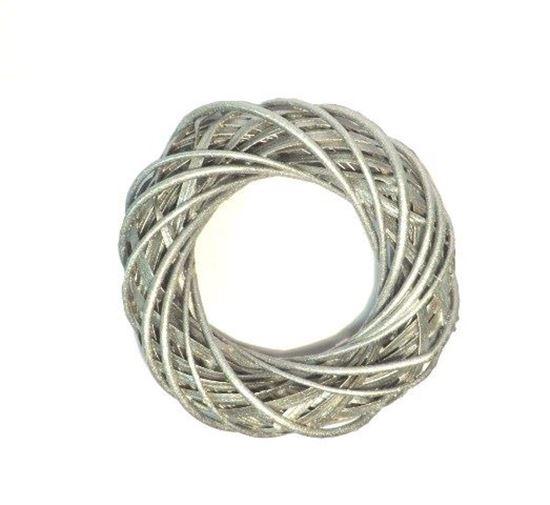 Obrázek z Stříbrný proutěný věnec ø30cm
