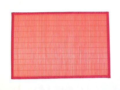 Obrázok z Bambusové prestieranie 30x45cm - červená