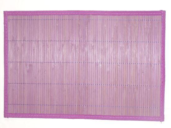 Obrázek z Bambusové prostírání 30x45cm - fialová - VÝPRODEJ - 2.JAKOST