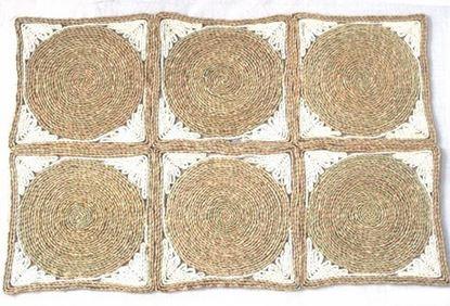 Picture of Rohož na podlahu - kukuřičná 60x90 - vzor kruh
