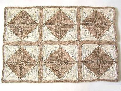 Obrázek Rohož na podlahu - kukuřičná 60x90 - vzor kosočtverec