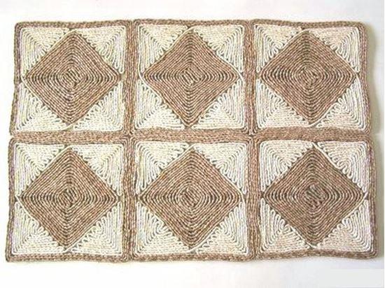 Obrázek z Rohož na podlahu - kukuřičná 60x90 - vzor kosočtverec