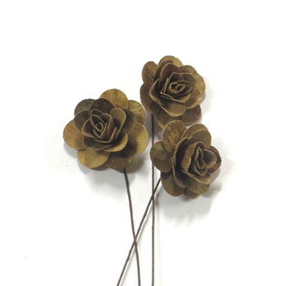 Obrázok z Deco ruža malá - prírodná, na stonke (25ks)