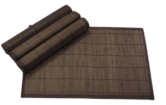 Obrázek z Bambusové prostírání 30x45cm - tmavě hnědá