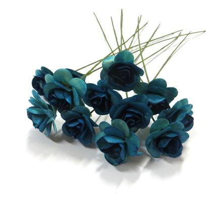Obrázek Deco růžičky - modrá (12ks)