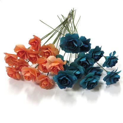 Obrázok z Deco ružičky - farebné (12ks)