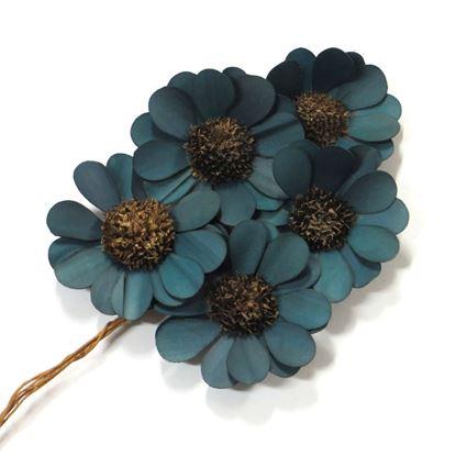 Obrázek Deco květ - modro-zelená (10ks)