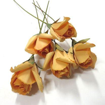 Obrázok z Deco ruža - oranžová (5ks)