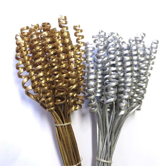 Picture of Cane spring mini  - zlatá, stříbrná (25ks)
