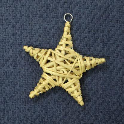 Obrázek Proutěná hvězda - dekorace k zavěšení (3 BARVY)