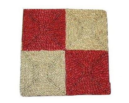 Obrázok z Rohož na podlahu - morská tráva 60x60 červená