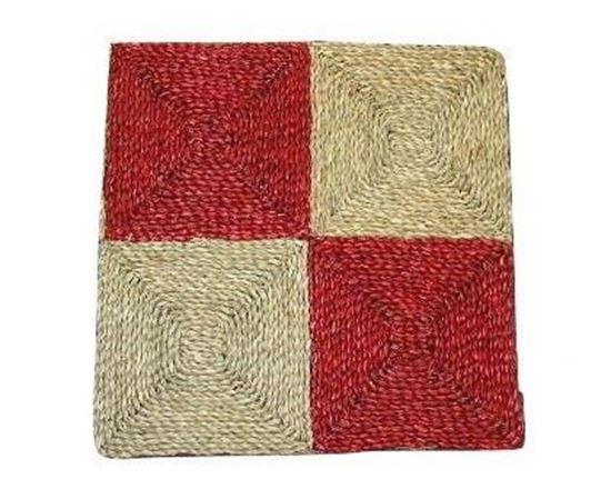 Obrázek z Rohož na podlahu - mořská tráva 60x60 červená
