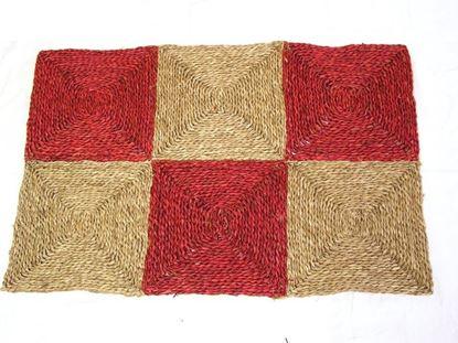 Obrázok z Rohož na podlahu - morská tráva 90x150 červená