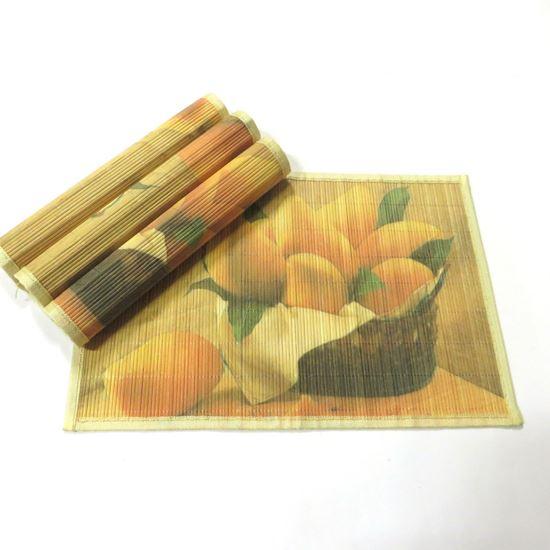 Obrázek z Bambusové prostírání 30x45cm - ovoce